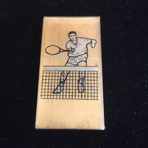 Vintage Tennis Money Clip